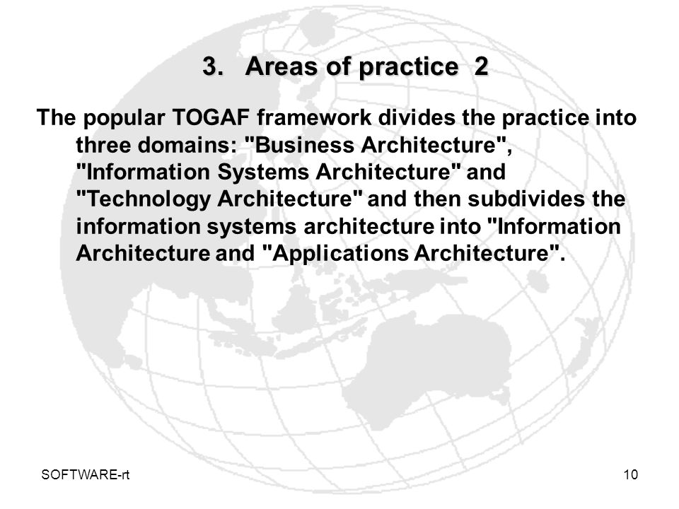 3. Areas of practice 2