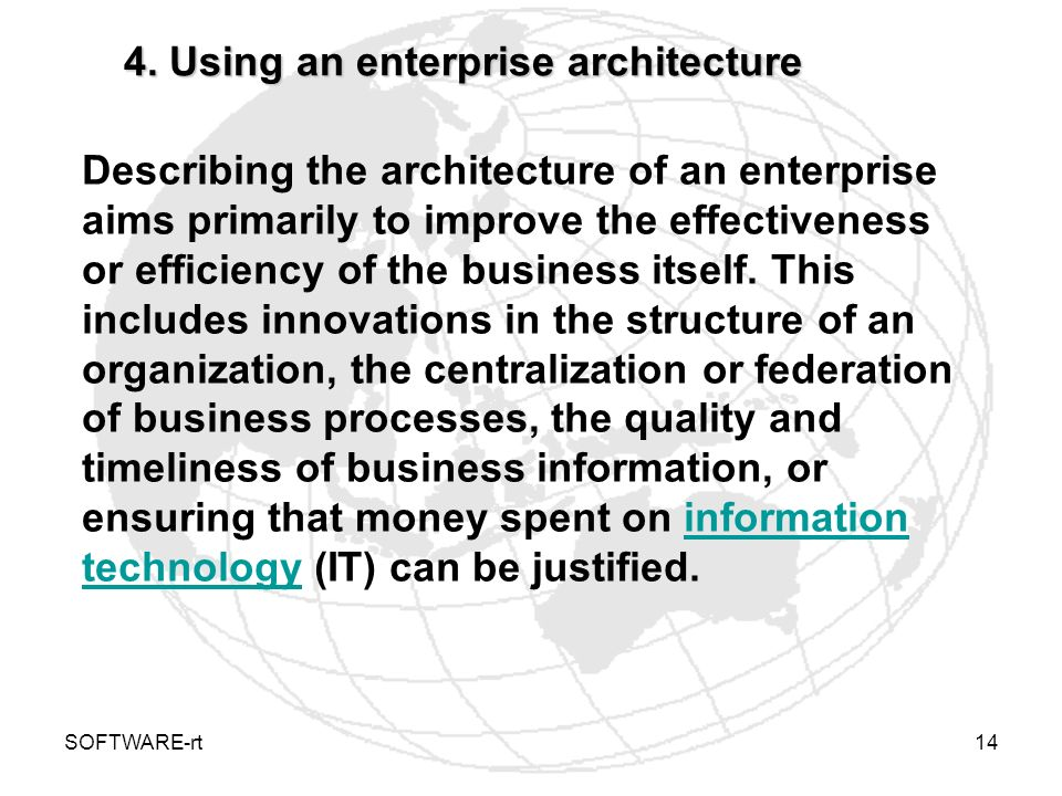 4. Using an enterprise architecture