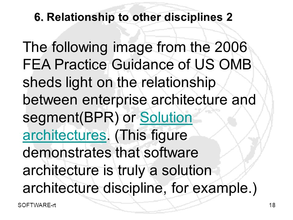 6. Relationship to other disciplines 2