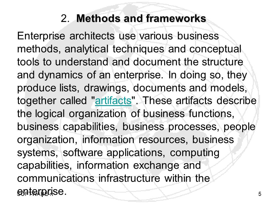 2. Methods and frameworks