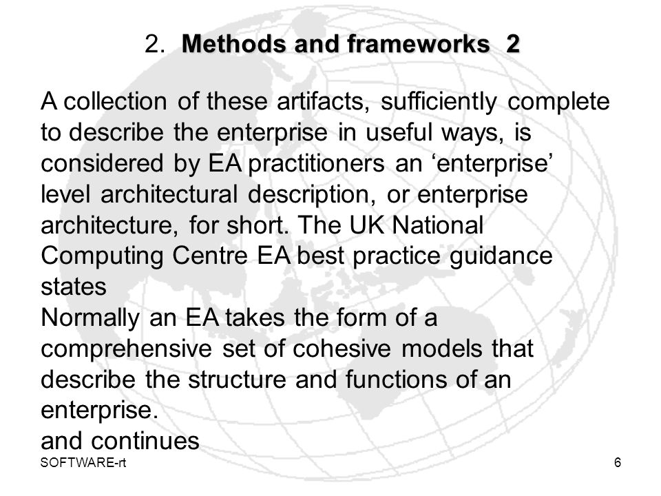2. Methods and frameworks 2