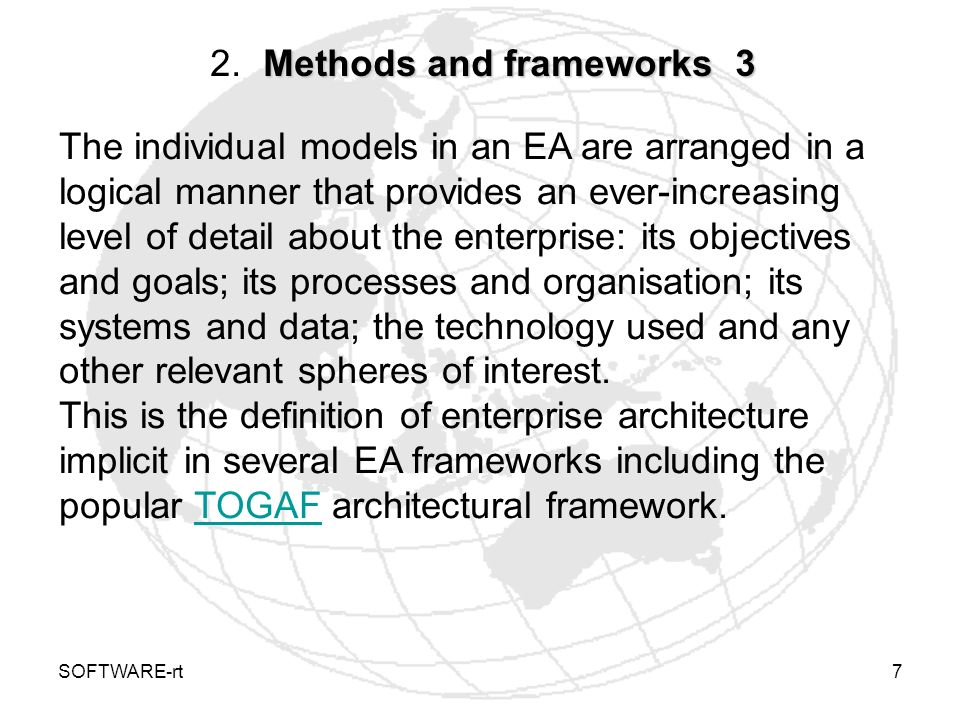 2. Methods and frameworks 3