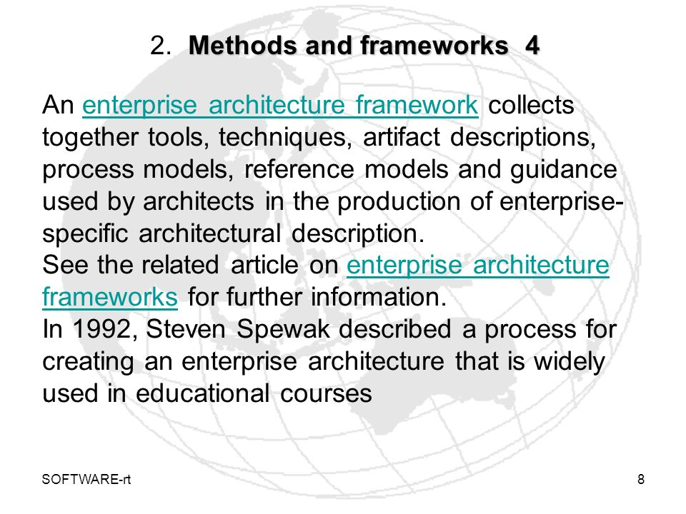 2. Methods and frameworks 4
