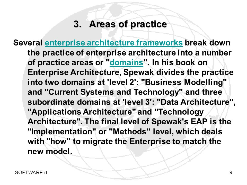 3. Areas of practice