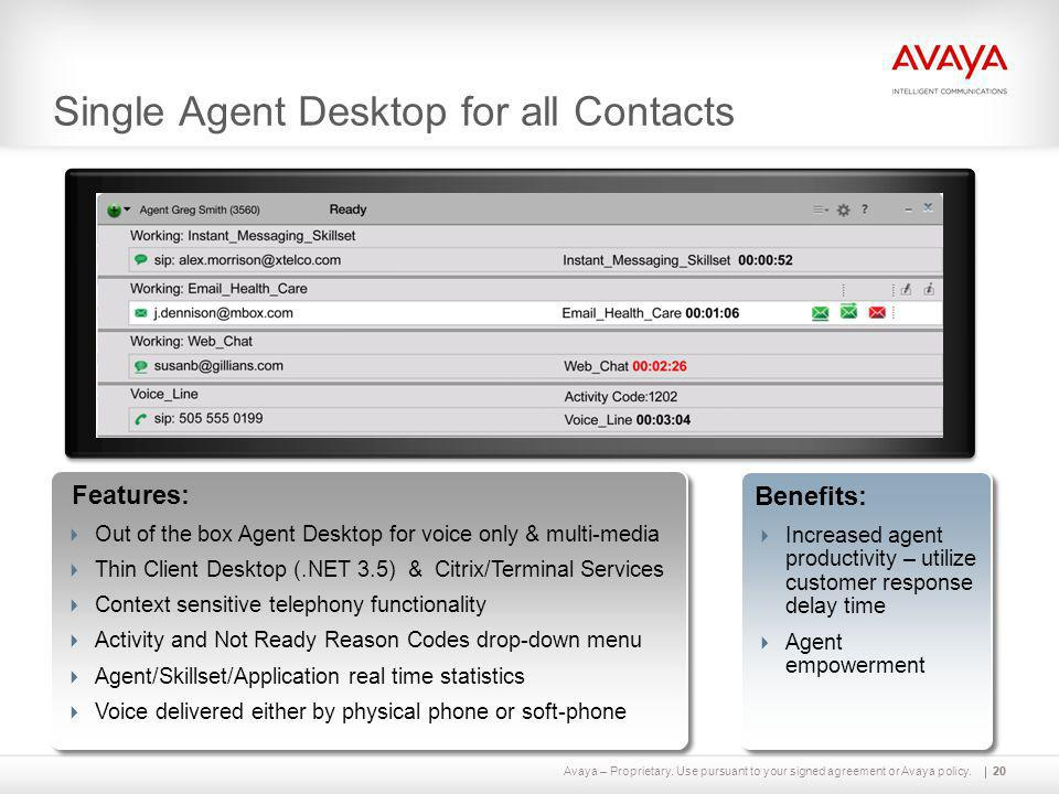 Single Agent Desktop for all Contacts