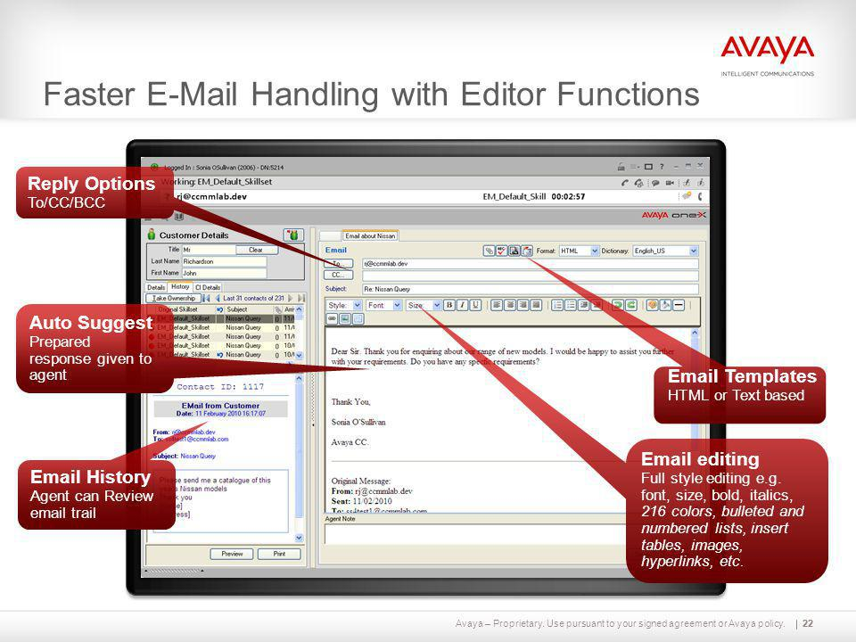 Faster E-Mail Handling with Editor Functions