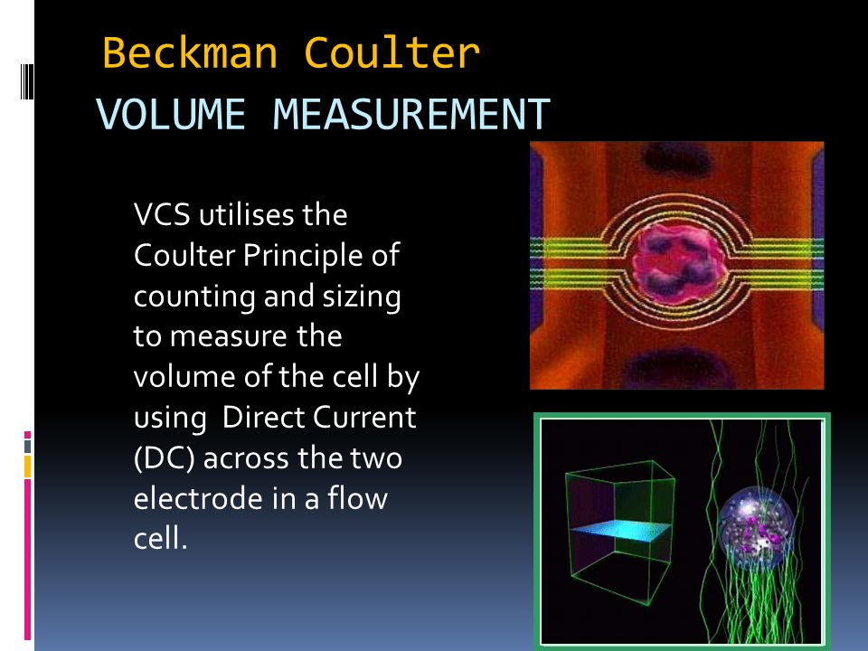 Beckman Coulter VOLUME MEASUREMENT