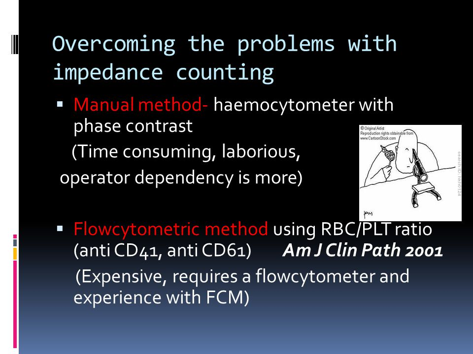 Overcoming the problems with impedance counting