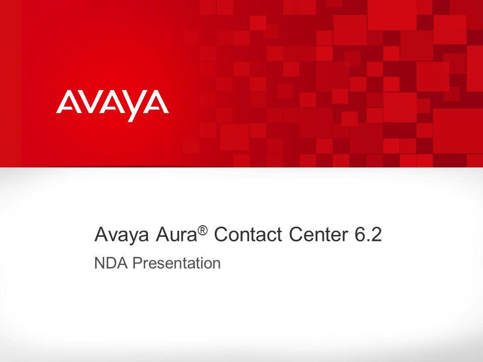 Avaya Aura® Contact Center 6.2