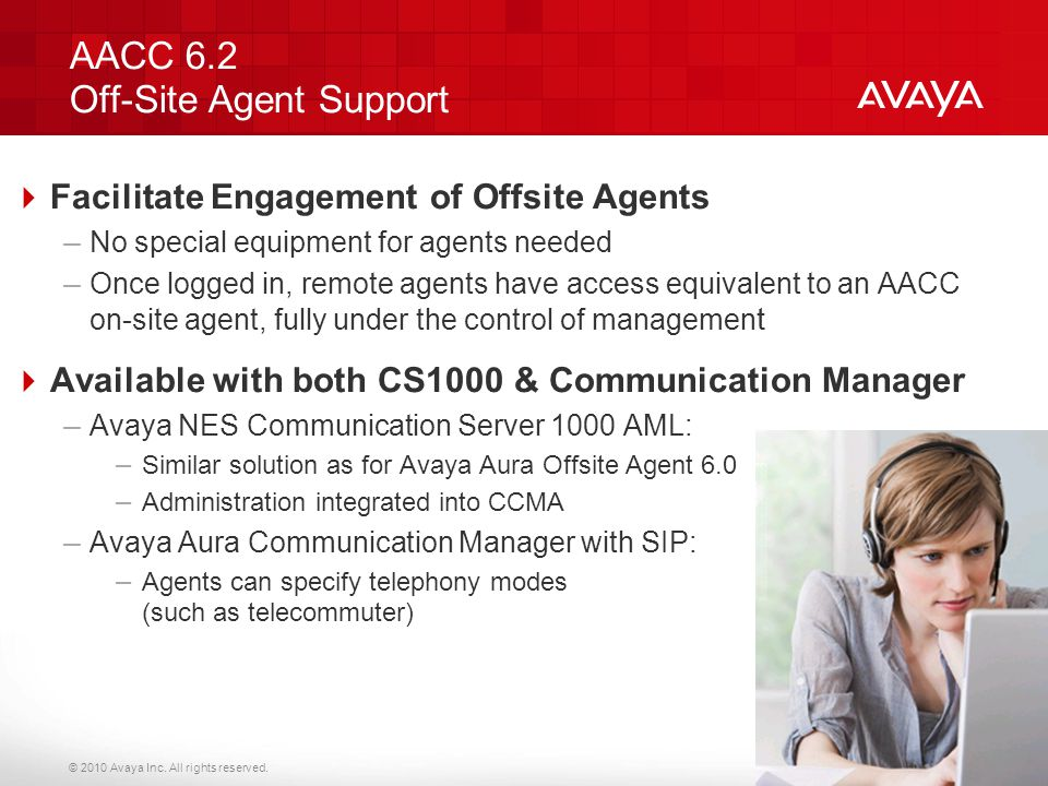 AACC 6.2 Off-Site Agent Support