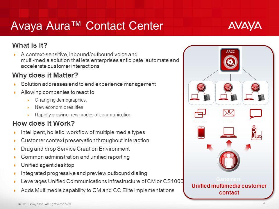 Avaya Aura™ Contact Center