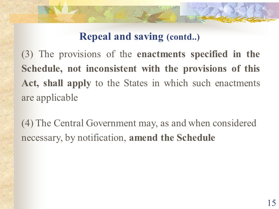 Repeal and saving (contd..)