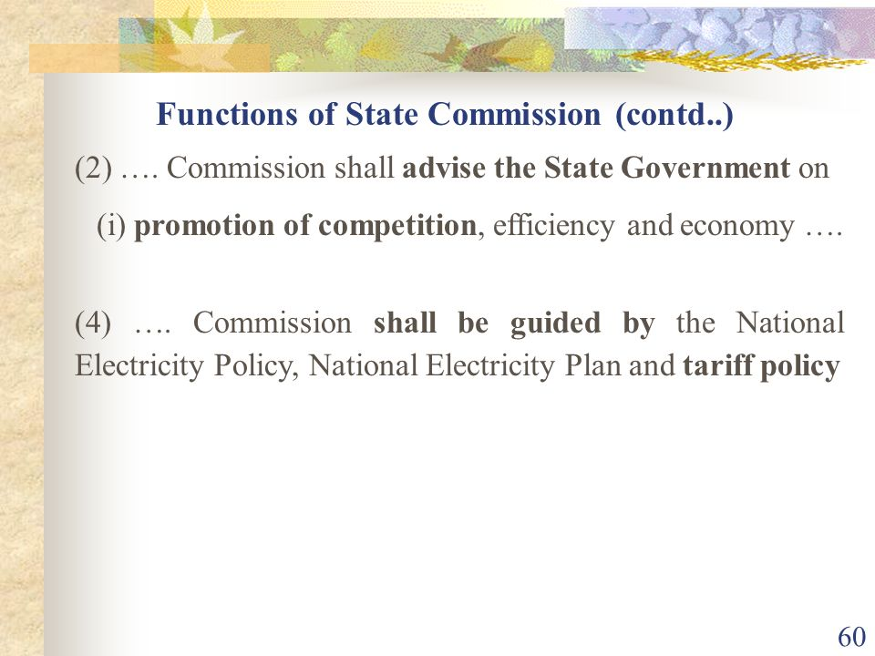 Functions of State Commission (contd..)