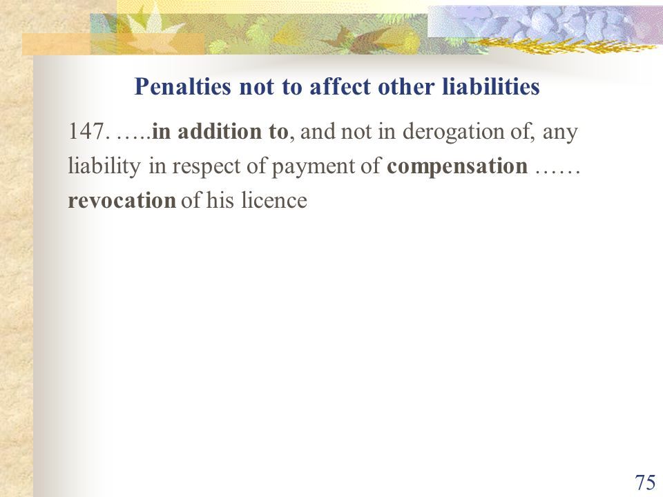 Penalties not to affect other liabilities