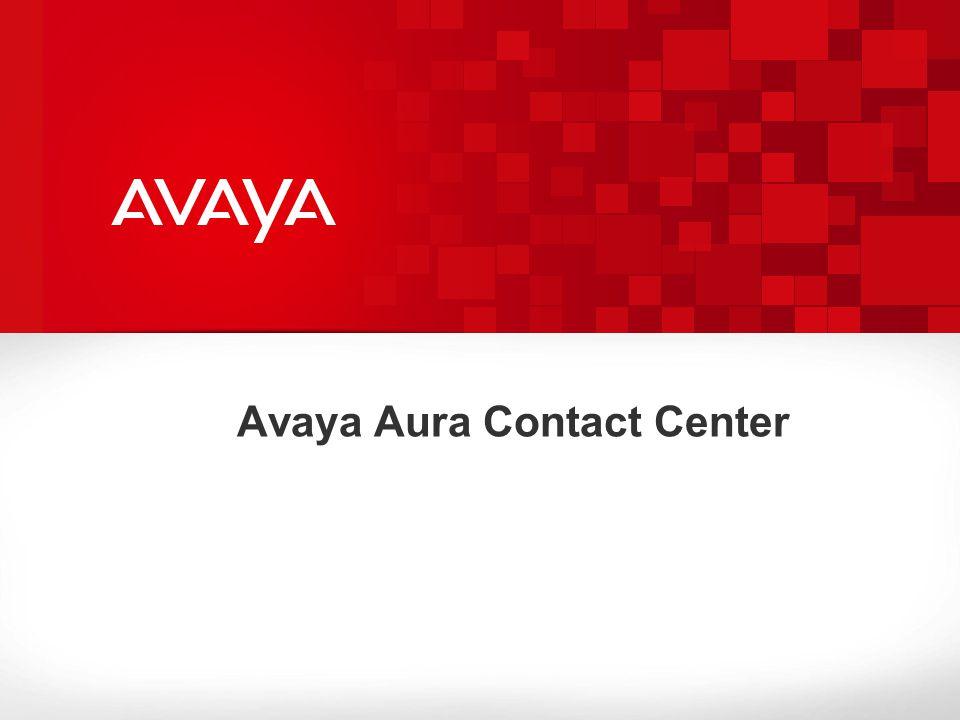 Avaya Aura Contact Center