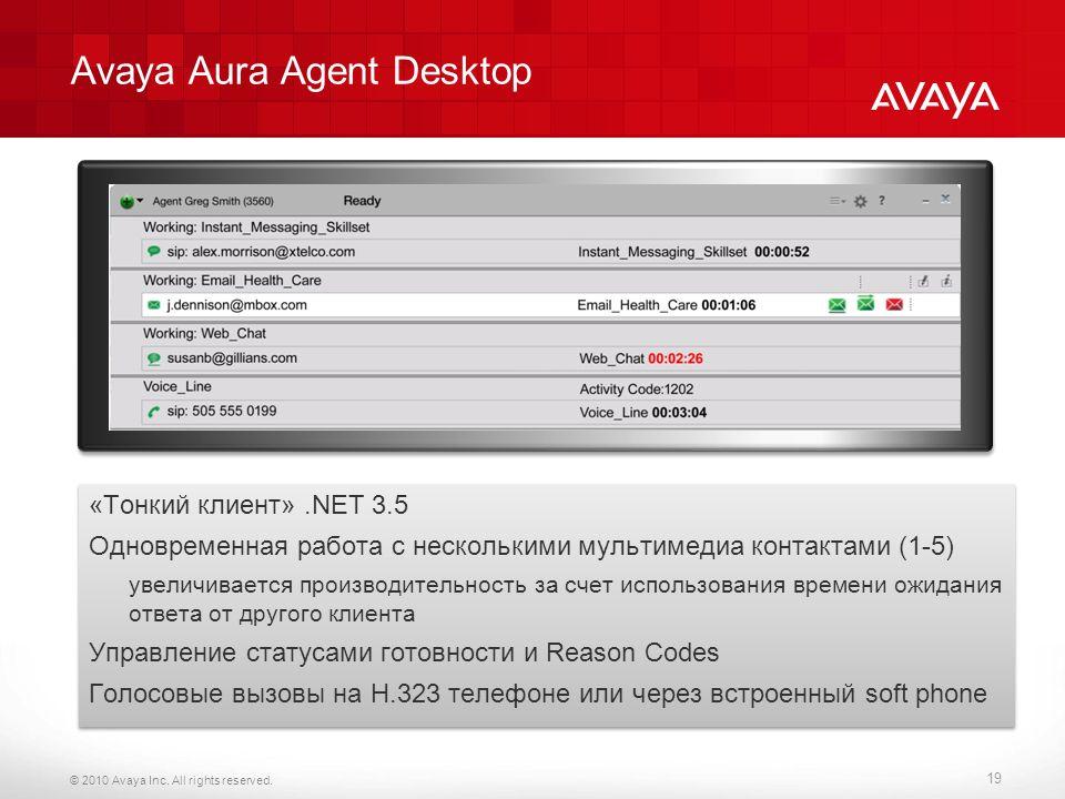 Avaya Aura Agent Desktop