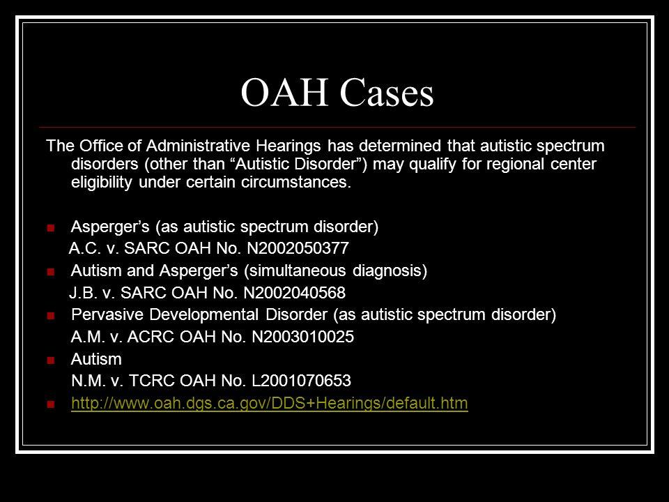 OAH Cases