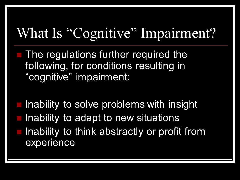 What Is Cognitive Impairment