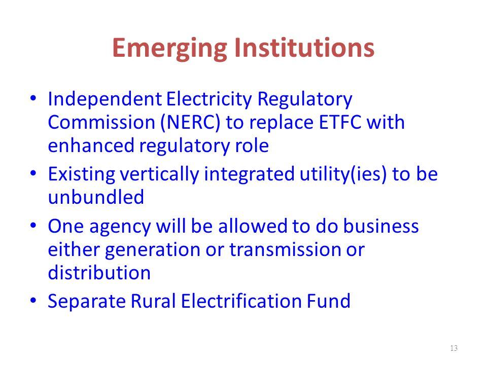 Emerging Institutions