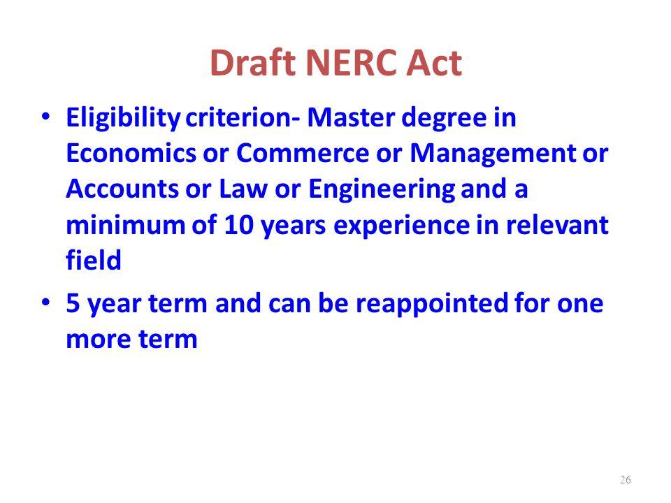 Draft NERC Act