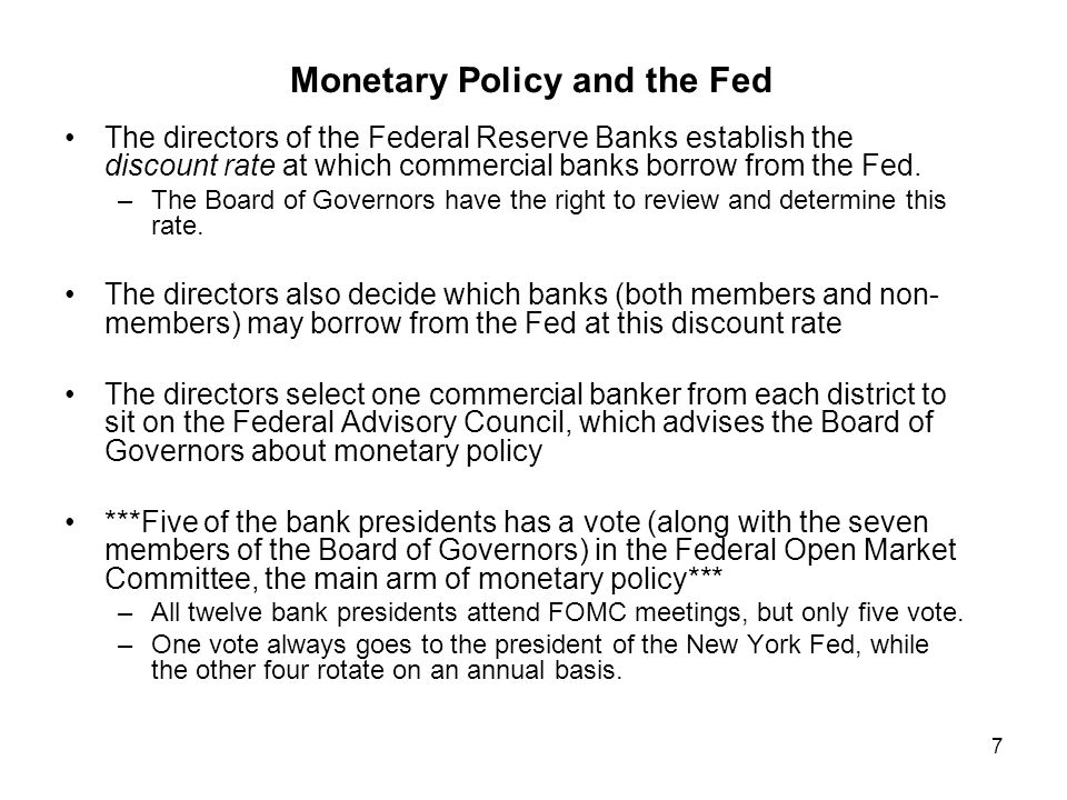 Monetary Policy and the Fed