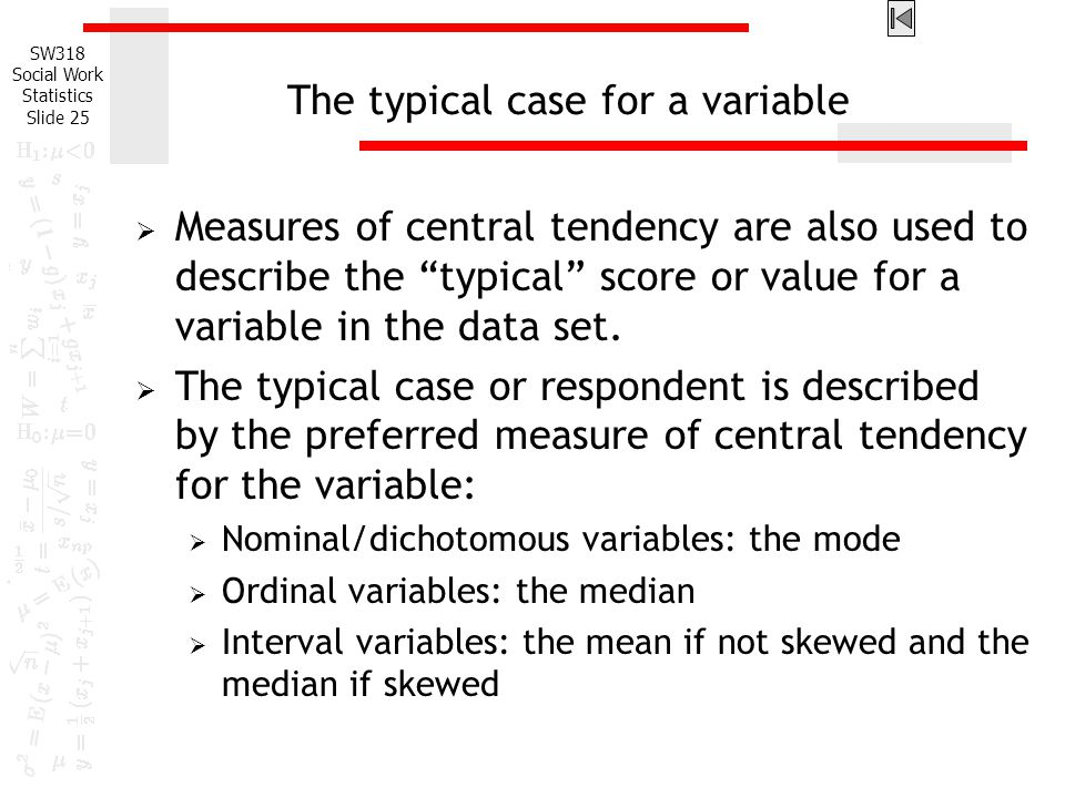 The typical case for a variable