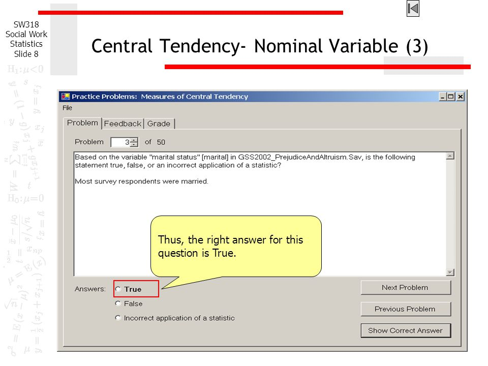 Central Tendency- Nominal Variable (3)