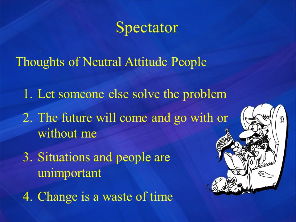 Spectator Thoughts of Neutral Attitude People