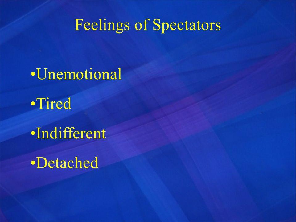 Feelings of Spectators