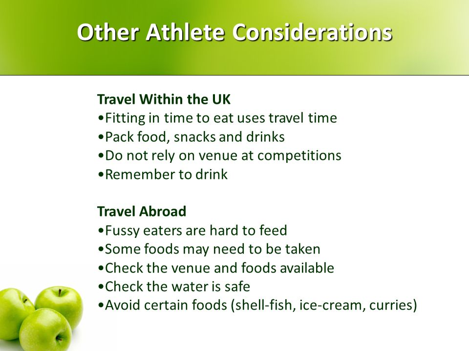 Other Athlete Considerations