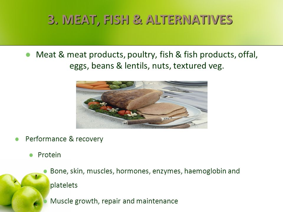 3. MEAT, FISH & ALTERNATIVES
