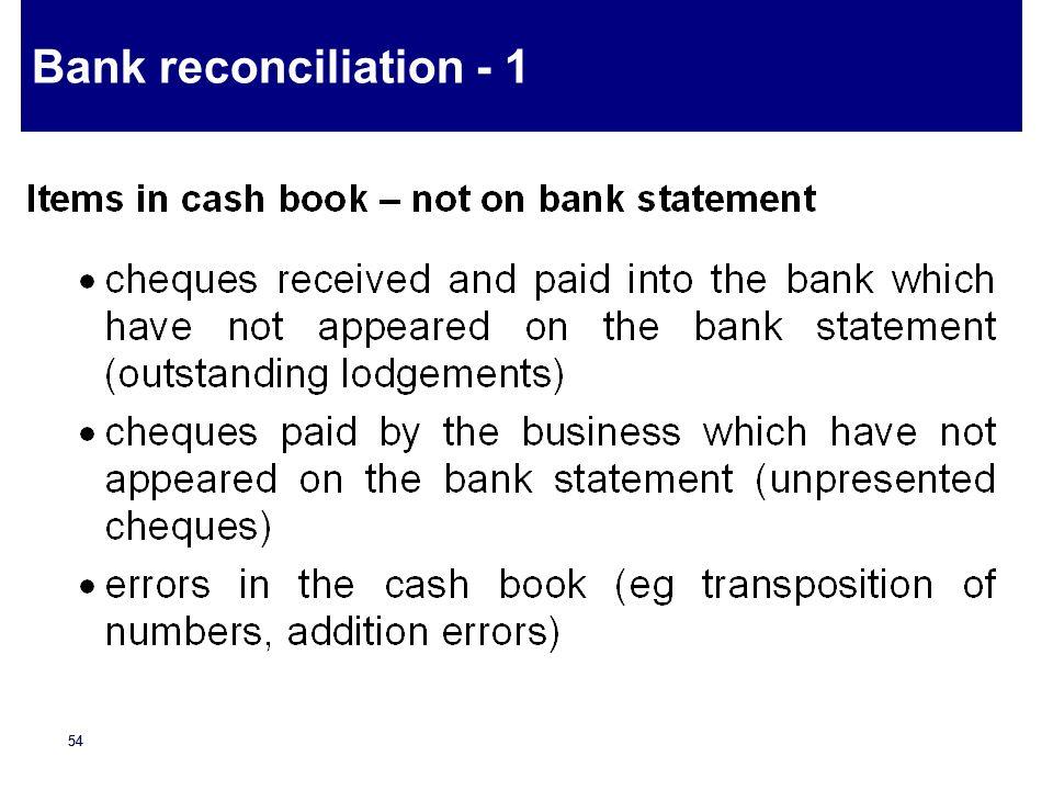 Bank reconciliation - 1