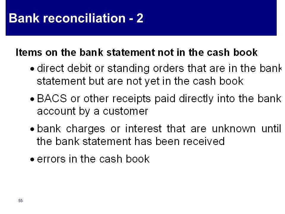 Bank reconciliation - 2