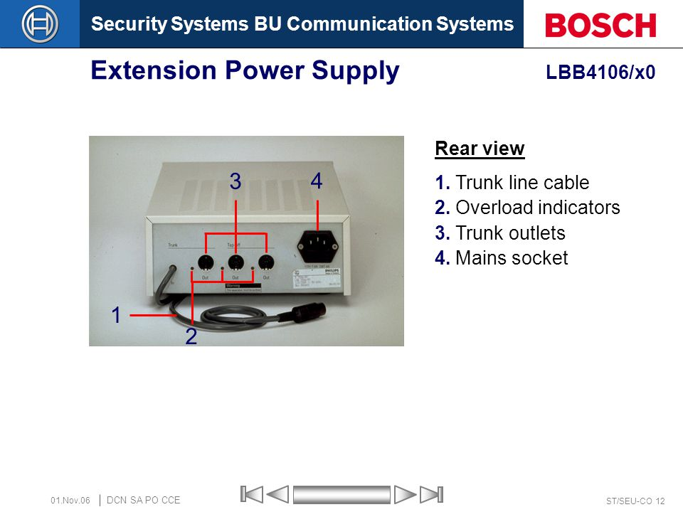 Extension Power Supply LBB4106/x0