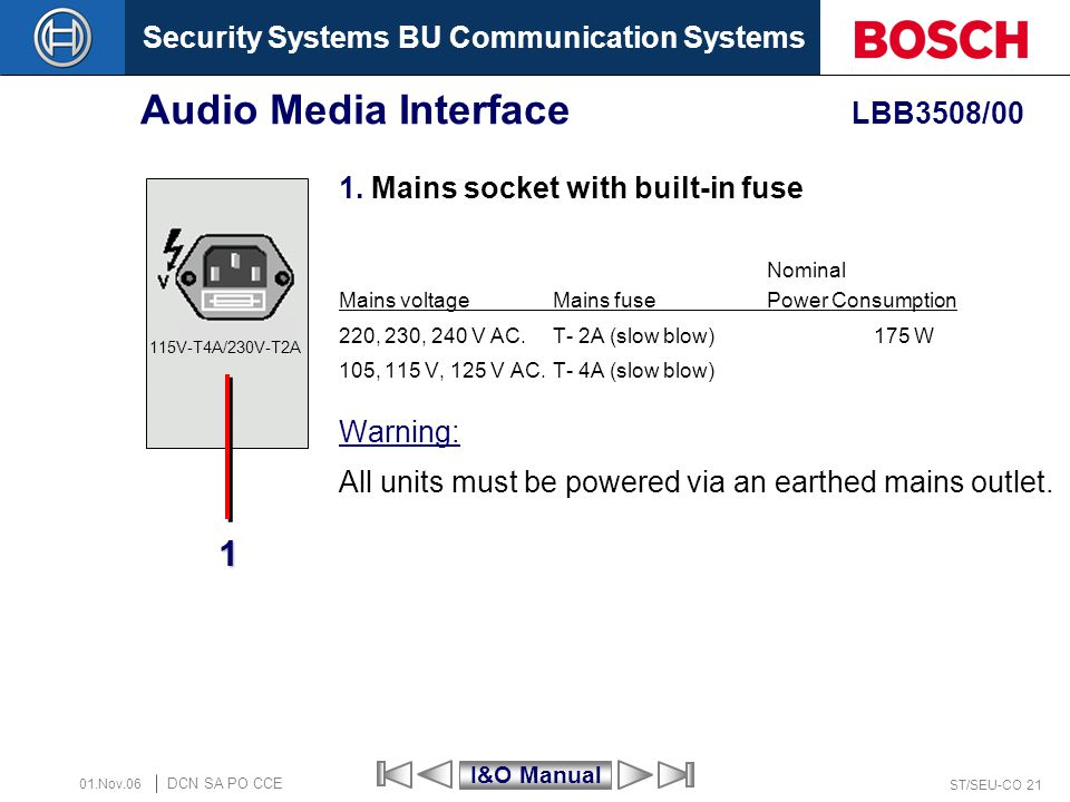 Audio Media Interface LBB3508/00