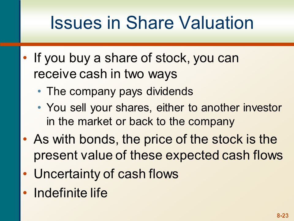 Issues in Share Valuation