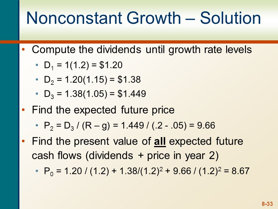 Nonconstant Growth – Solution