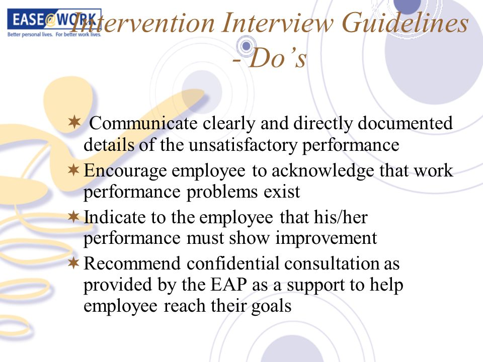 Intervention Interview Guidelines - Do's