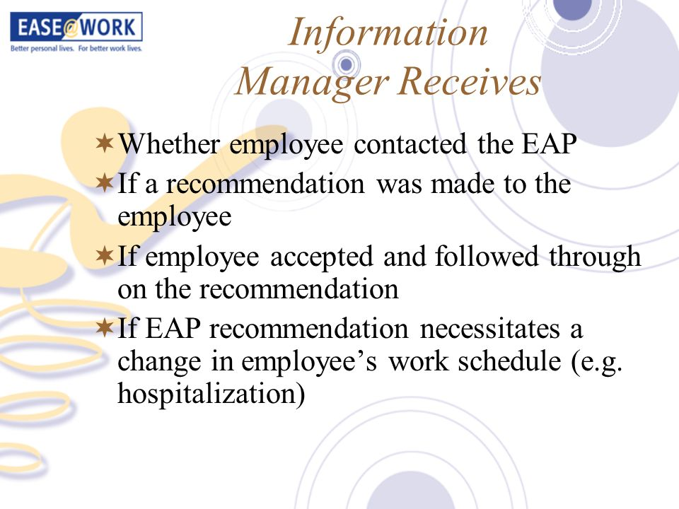 Information Manager Receives