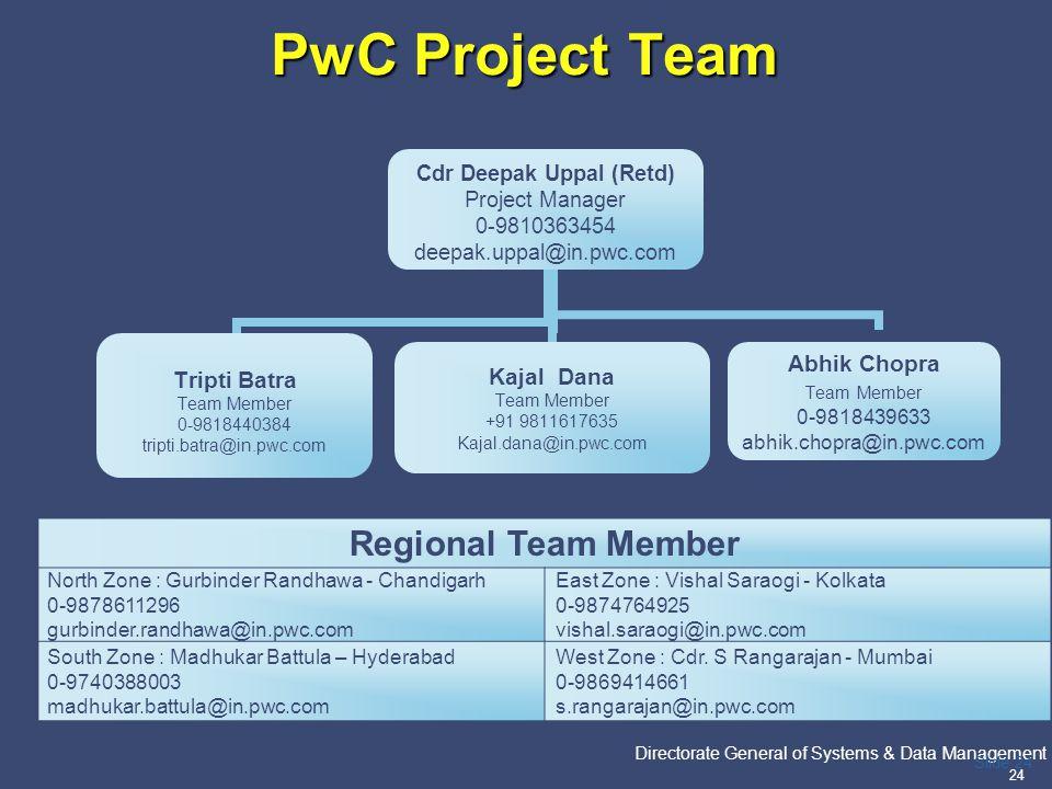 PwC Project Team Regional Team Member
