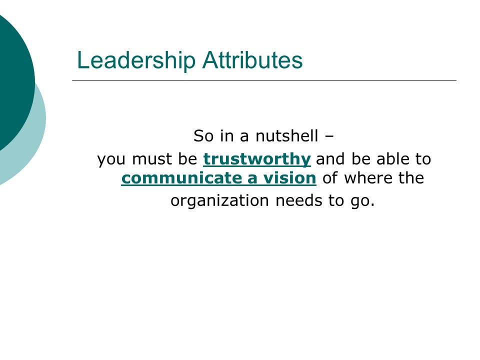 Leadership Attributes