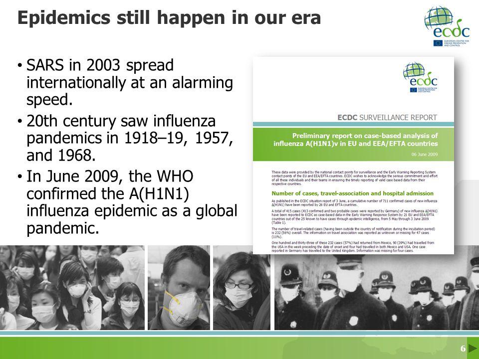 Epidemics still happen in our era