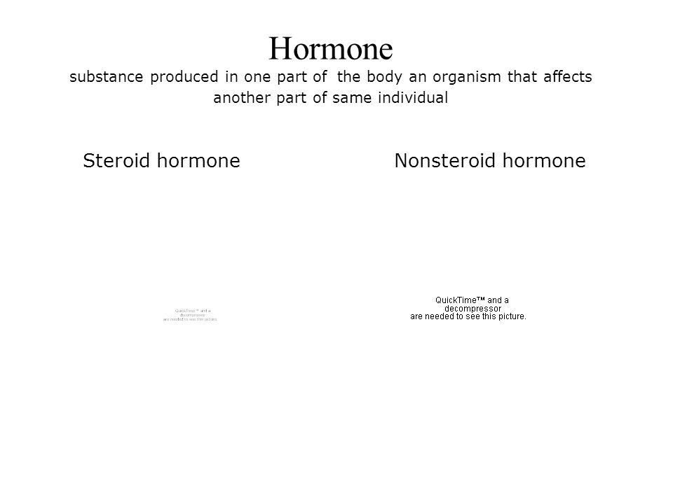 Hormone substance produced in one part of the body an organism that affects another part of same individual