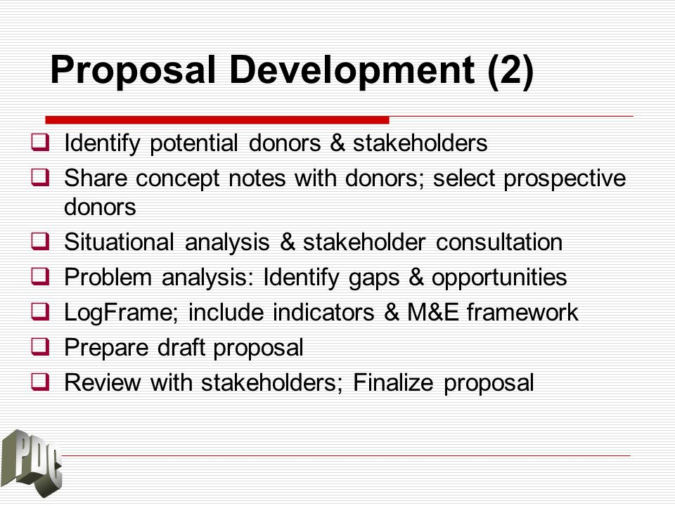 Proposal Development (2)