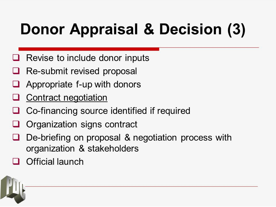 Donor Appraisal & Decision (3)