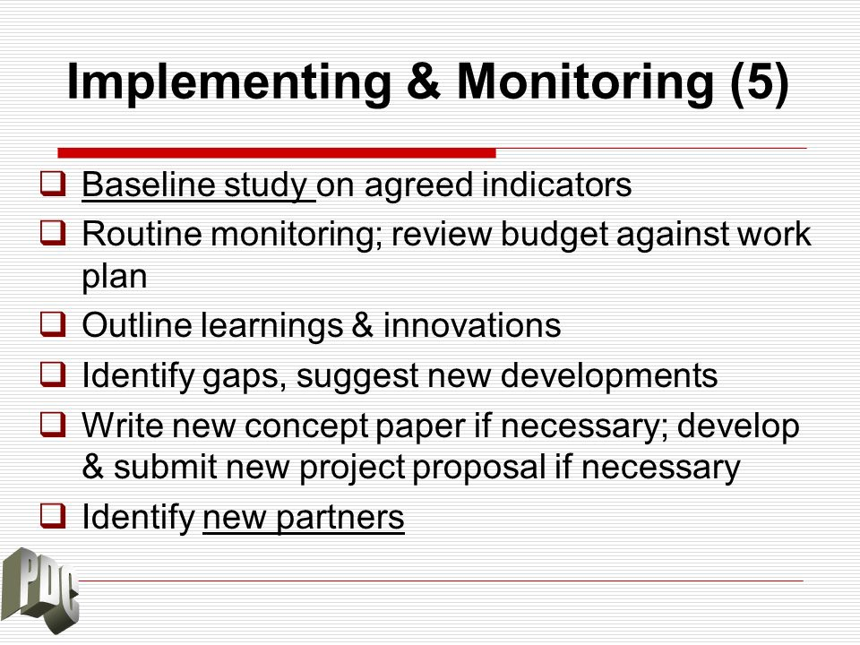 Implementing & Monitoring (5)