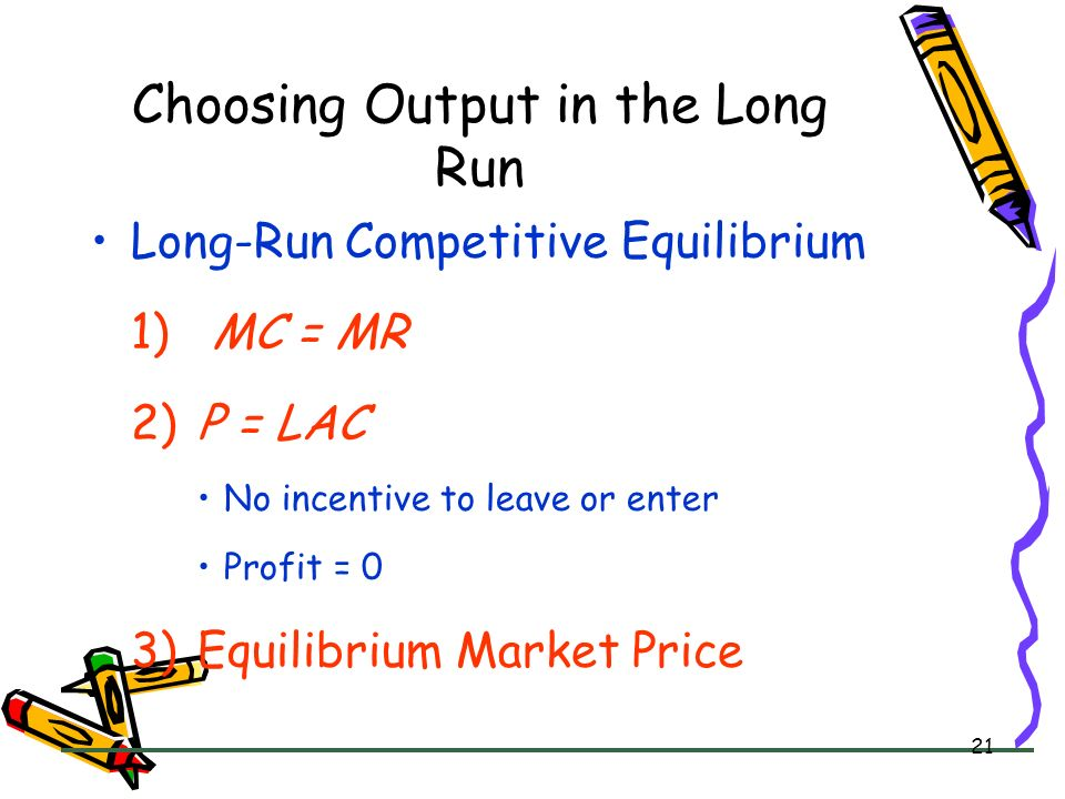 Choosing Output in the Long Run