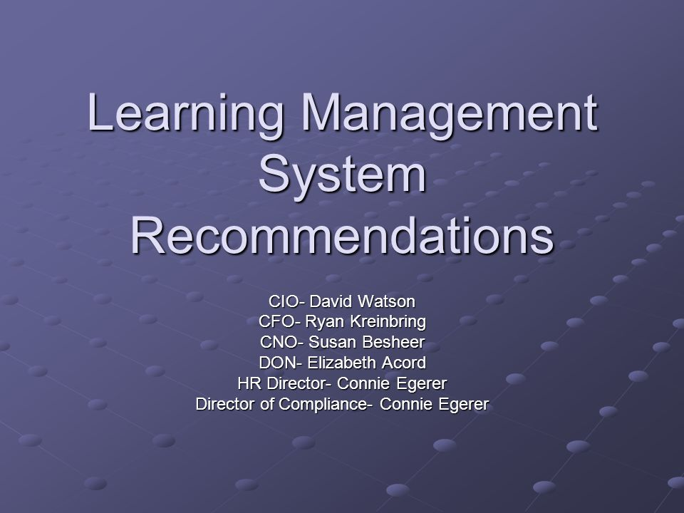 Learning Management System Recommendations