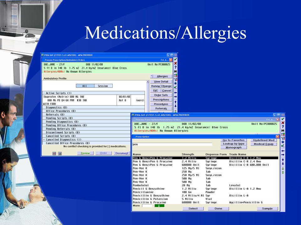 Medications/Allergies