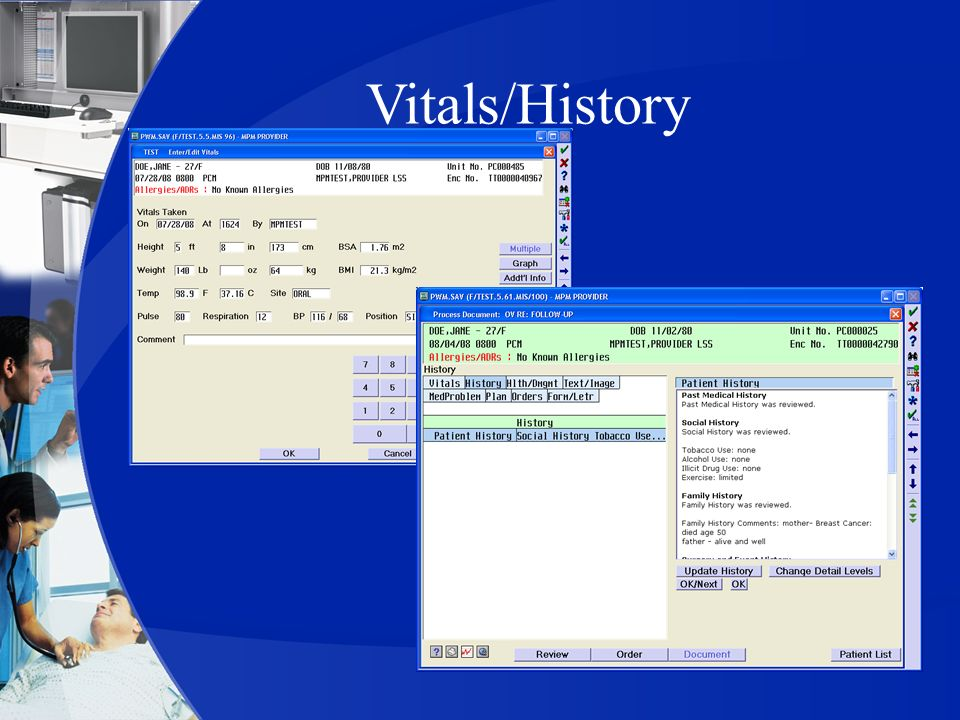 Vitals/History